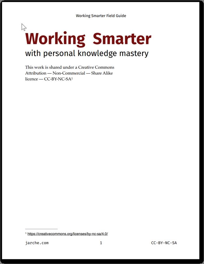 Working Smarter - Jarche